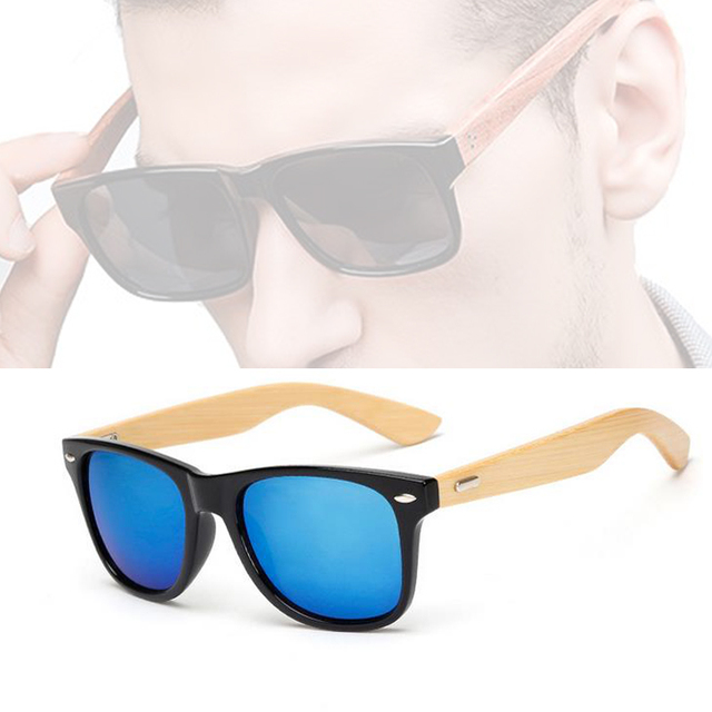 Bamboo Sunglasses Travel Goggles Vintage Wooden Leg Eyeglasses Fashion Brand Design 1