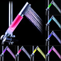 Waterfall Multicolor Changing Modern LED Shower Head Sprinkler Bathroom Temperature Sensor 7 Color Showers Heads Hot Sal