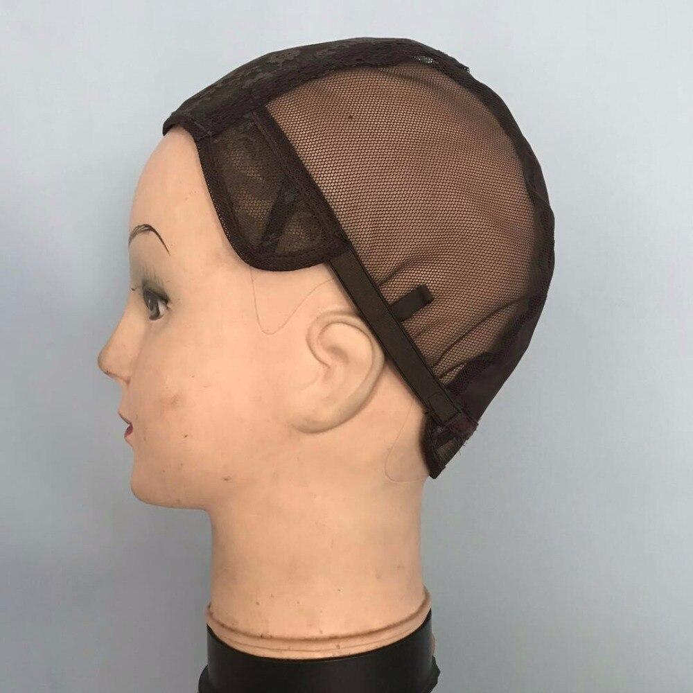"""50 шт./лот 22.5 """"коричневый качество постижерного крышка парик Шапки лента с липучкой для изготовления париков"""