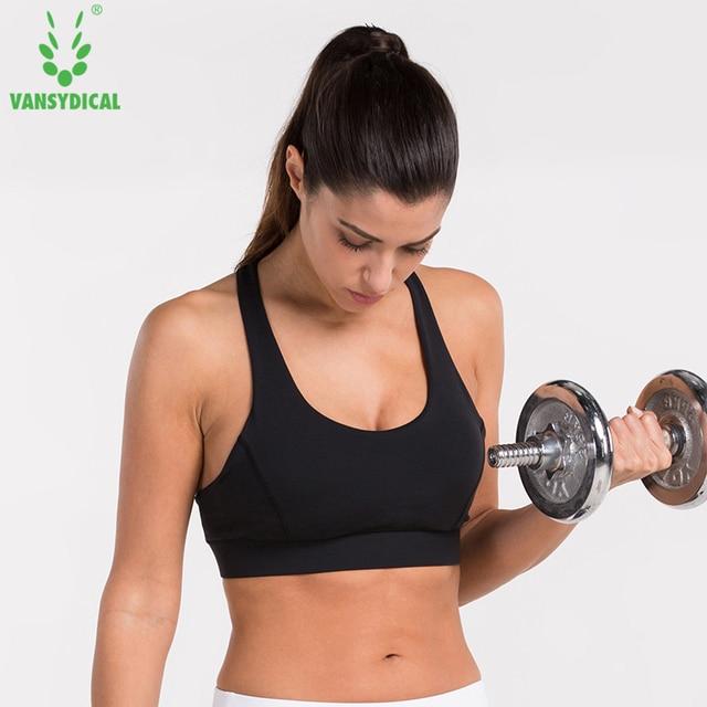 8748e5c7b38fa Women Yoga Bra Sports Gym Running Fitness Training Exercise Jogging Jogger  Underwears Full Cup Sports Bras
