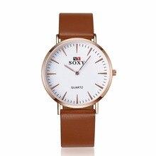 Роскошные Ювелирные Изделия Аксессуары Ультра тонкий Кварцевые Часы кожаные наручные часы Для мужчин Подарок