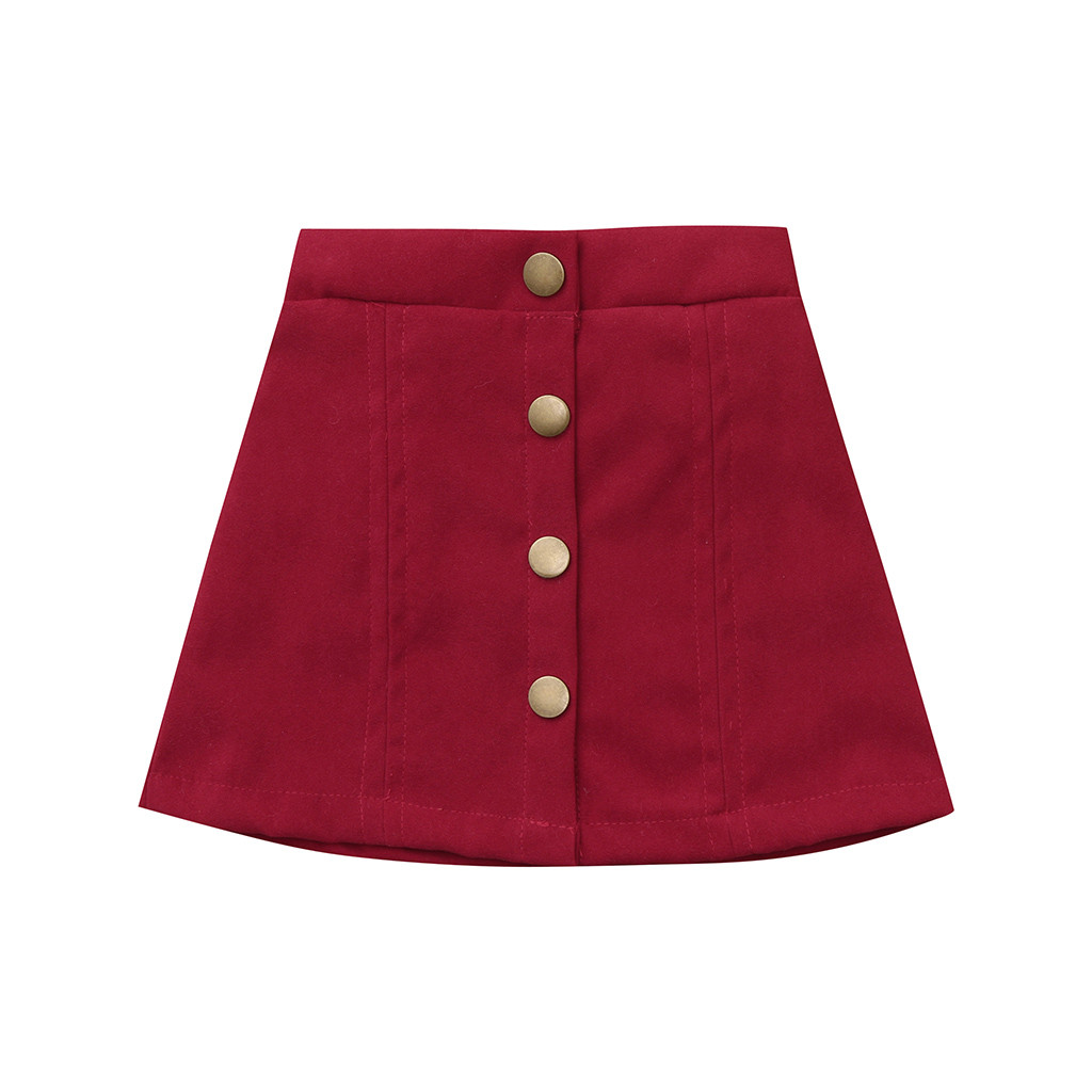 NEW 2019 Fashion Solid Color Little Skirt Babes Toddler Infant Baby Girls Botton Solid Skirt Beach Clothe Sun Skirt Outfits
