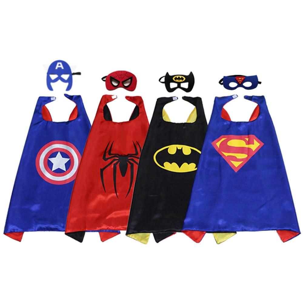 [La MaxPa] Superhero cape batman super Hero Costume for Children Halloween Party Costumes for Kids superman spiderman