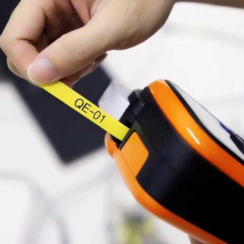 Unistar 6 cái/gói HSe-231 tương thích Nhiệt Ống 17.7mm X 1.5m (0.23IN X 4.9FT) trắng Vàng Máy In Nhãn HSE231