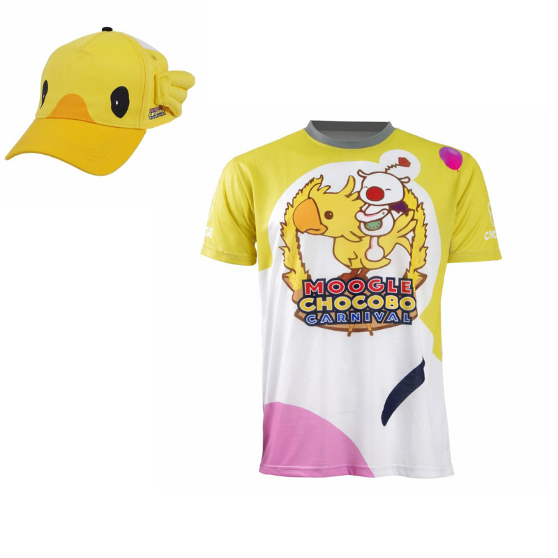 03ae8dddd FF15 Moogle Chocobo T-shirt Final Fantasy XV Noctis Lucis Caelum t shirt  Hat Costume Carnival Men Short Sleeve Shirt Cosplay Tee