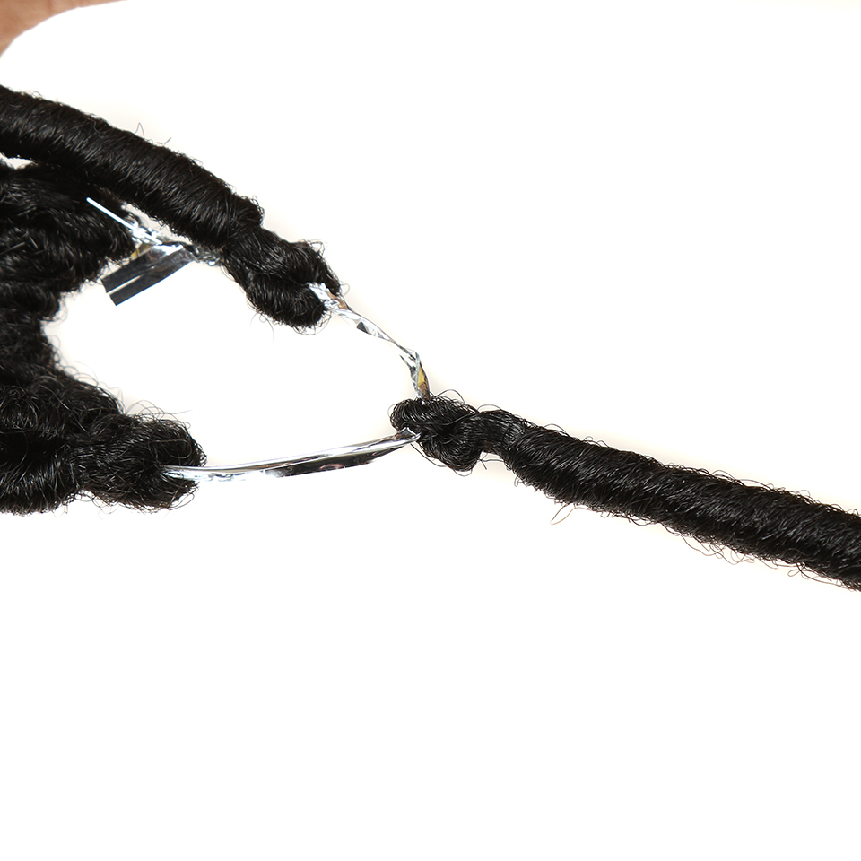 Noble 20Inch 14Roots Synthetic Faux Locs Crochet Braid Hair Extensions For Black Women Burgundy High Temperature Fiber Hair