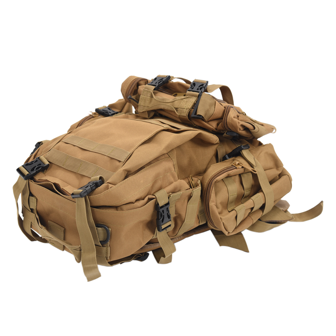 50L Large Capacity Tactical Military Outdoor Rucksacks Backpack Trekking Hiking Bag Mud color protector plus outdoor 55l bag military tactical large backpack rucksacks for explorer hiking camping trekking gym molle bags