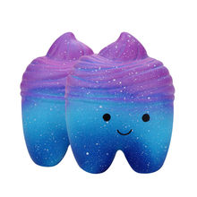 Squeeze soft 10cm Galaxy Teeth Cake Scented Squishies Slow Rising Squeeze Toys Collection Toy Funny Gift Z0220(China)