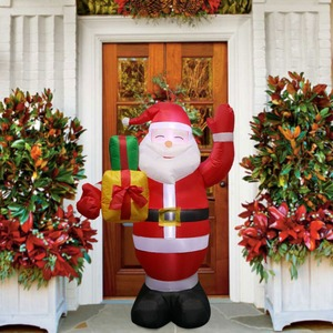 Image 5 - OurWarm Christmas Inflatable Greeting Snowman Santa Claus 5ft Giant Inflatable Blow Up Toy Garden Yard Decoration With LED Light