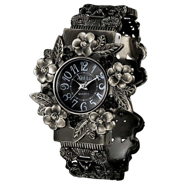 New 2018 Watches Women Vintage Watch Ladies Watches Fashion Antique Engraved Qua