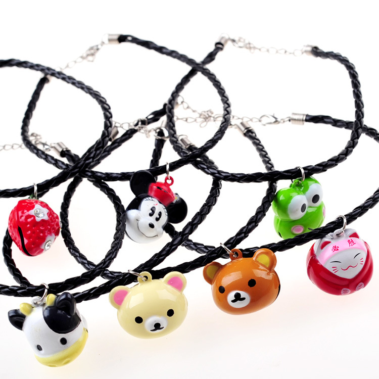 Handmade Cat Pet Dog Necklace Pet Accessories Pet Cat Dog Collars Large Bell Random Delivery 2pcs/<font><b>lot</b></font> Chihuahua Cat <font><b>Jewelry</b></font> image