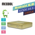 MECOOL HM8 Smart TV Box Amlogic S905X Quad Core Set-top Box Android 6.0 TV Box 4K H.265 1GB RAM 8GB ROM 2.4G WiFi KDI 16.1