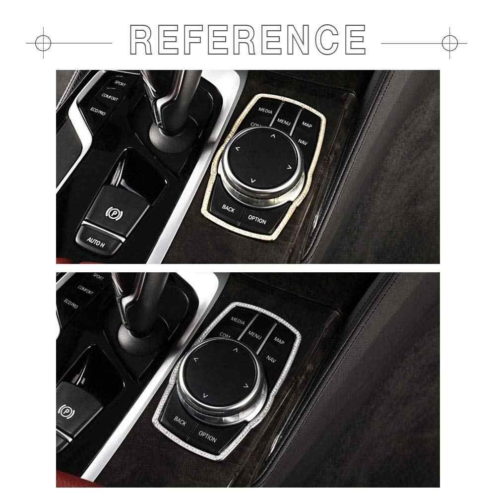 Kompatybilne listwy wykończeniowe do akcesoriów BMW części iDrive Multimedia pokrywy gałek naklejka Bling dekoracje wnętrz 5 6GT 7