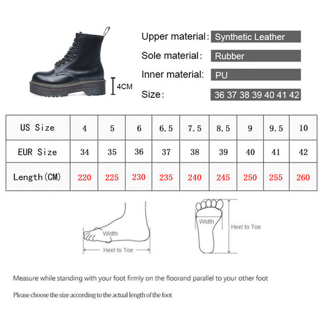 Smile Circle Size 35-42 Flat Platform Boots Women Shoes Autumn Winter Fur Fashion Round Toe Lace-up Leather Boots Ladies Shoes 1