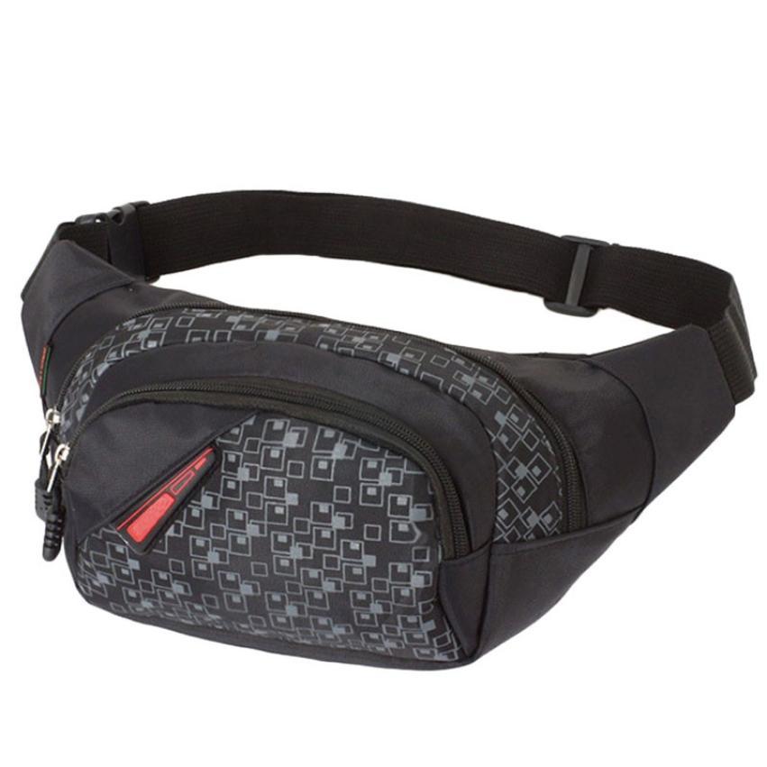 Men Women Waist Bag Belt Chest Packs Pouch Zipper Nylon Messenger Shoulder Bag Pack Packet Drop Shipping Wholesale #T недорого