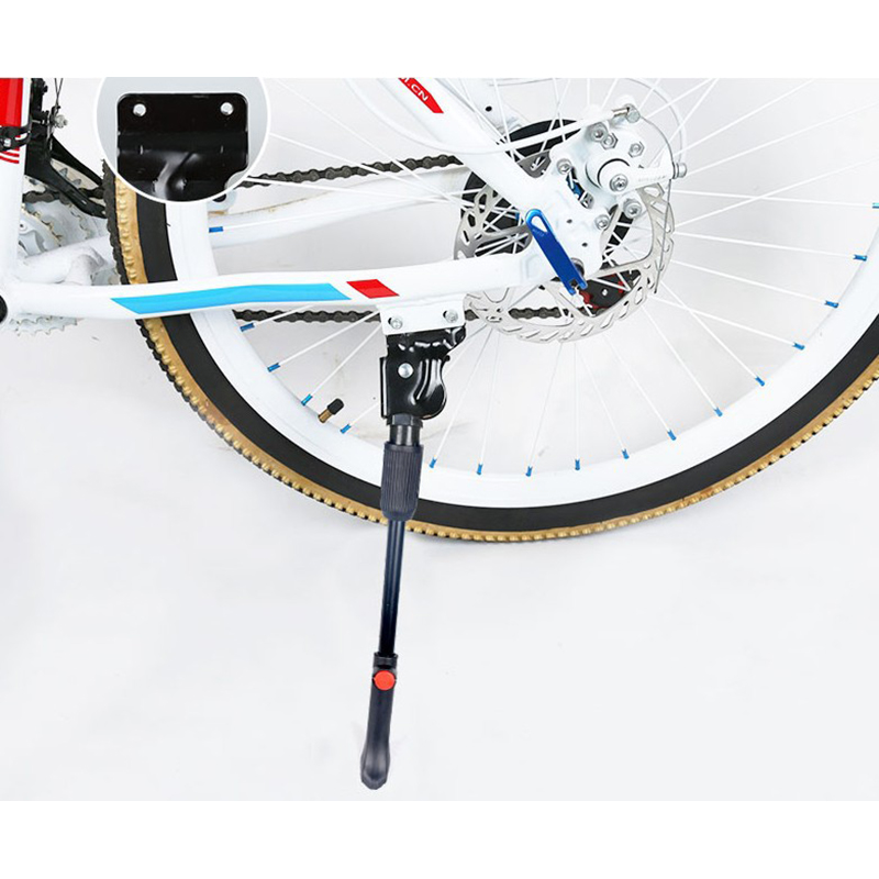 MTB Bike Cycling Side Kick Stand Bicycle Kickstand Iron Road Bike Bicycle Supporter Parking Rack Bike Foot Brace Bicycle Racks free indoor exercise bicycle trainer 6 levels home bike trainer mtb road bike cycling training roller bicycle rack holder stand