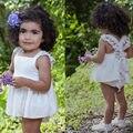 Девушка кружевном платье, белый ребенка день рождения наряд, кружева младенческая baby swing top промах набор, потертый шик детские экипировка