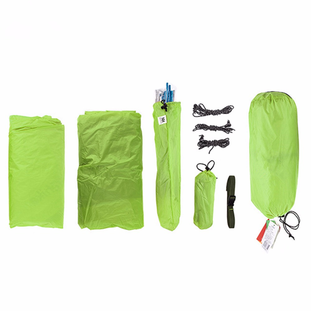 Outdoor Tent 20D Silicone Fabric Ultralight 3 Person Double Layers Aluminum Rod Camping Tent 4 Season With Mat Hot Selling 995g camping inner tent ultralight 3 4 person outdoor 20d nylon sides silicon coating rodless pyramid large tent campin 3 season