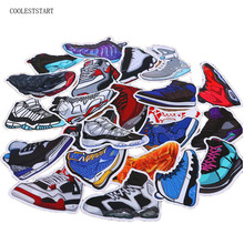 100pcs/pack Mixed Cartoon SNEAKER Stickers For Notebook Bike Luggage Box  Shoes  Graffiti Waterproof Stickers