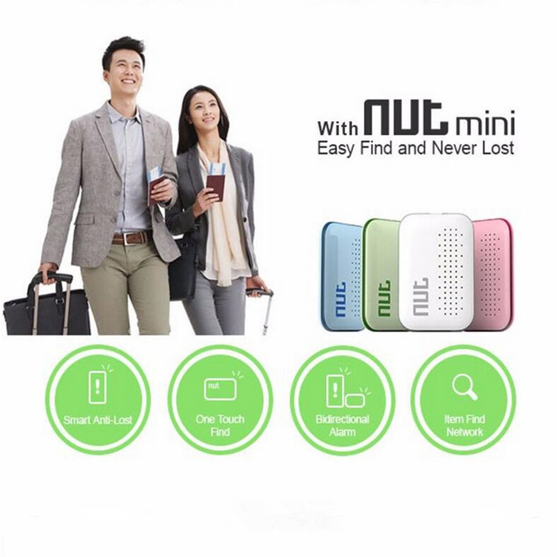 Nut Mini font b Smart b font Finder Bluetooth Tracker Pet Locator Alarm Luggage Wallet Phone