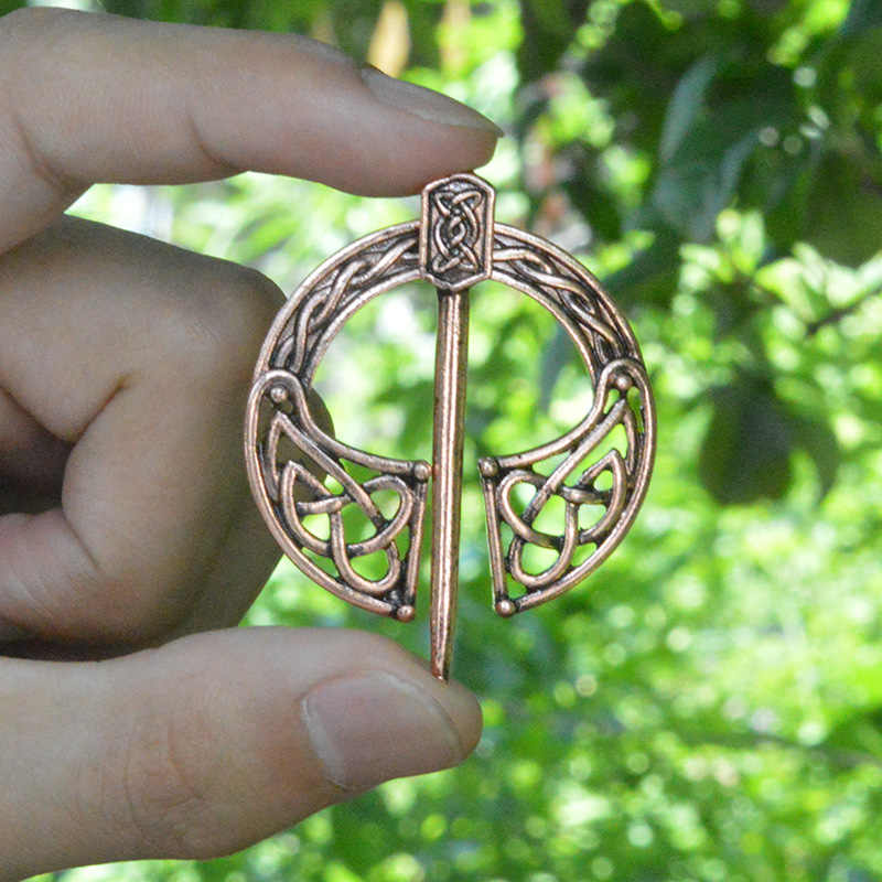Cinto de Fivela de Bronze Oco Viking Broche Capa Pin Broches de Fecho para Homens Jóias Norse Viking Jóias Pinos de Esmalte