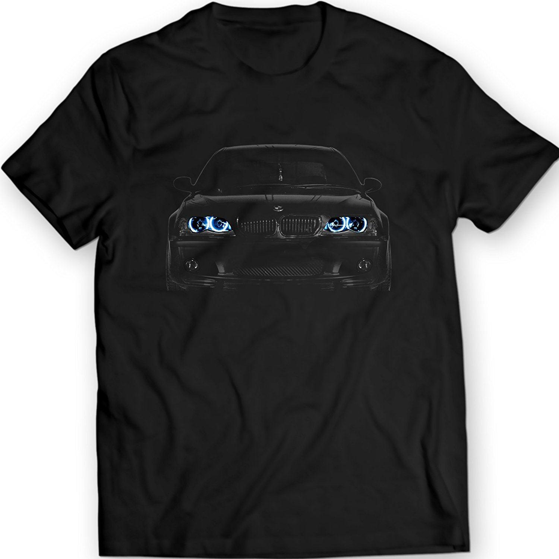 5501adff 2019 New Cool Tee Shirt Germany Car E46 T-Shirt Blue Angel Eyes Headlights  Black