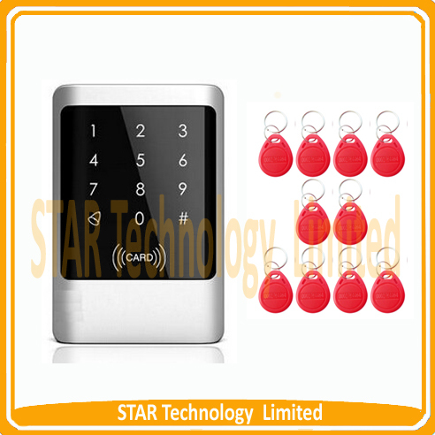 ФОТО Waterproof RIFD Door Access Control System EM ID Card Reader Home Security+10 Keys