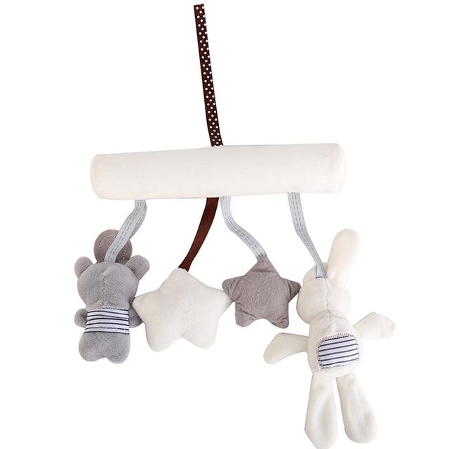 Acessórios carrinho de Bebê Berço Carrinho De Bebê Chocalho Chocalhos Coelho Pendurado Chocalhos Brinquedos De Pelúcia Macia Para O Carrinho De Criança Cama de bebê Recém-nascido Sino Pingente