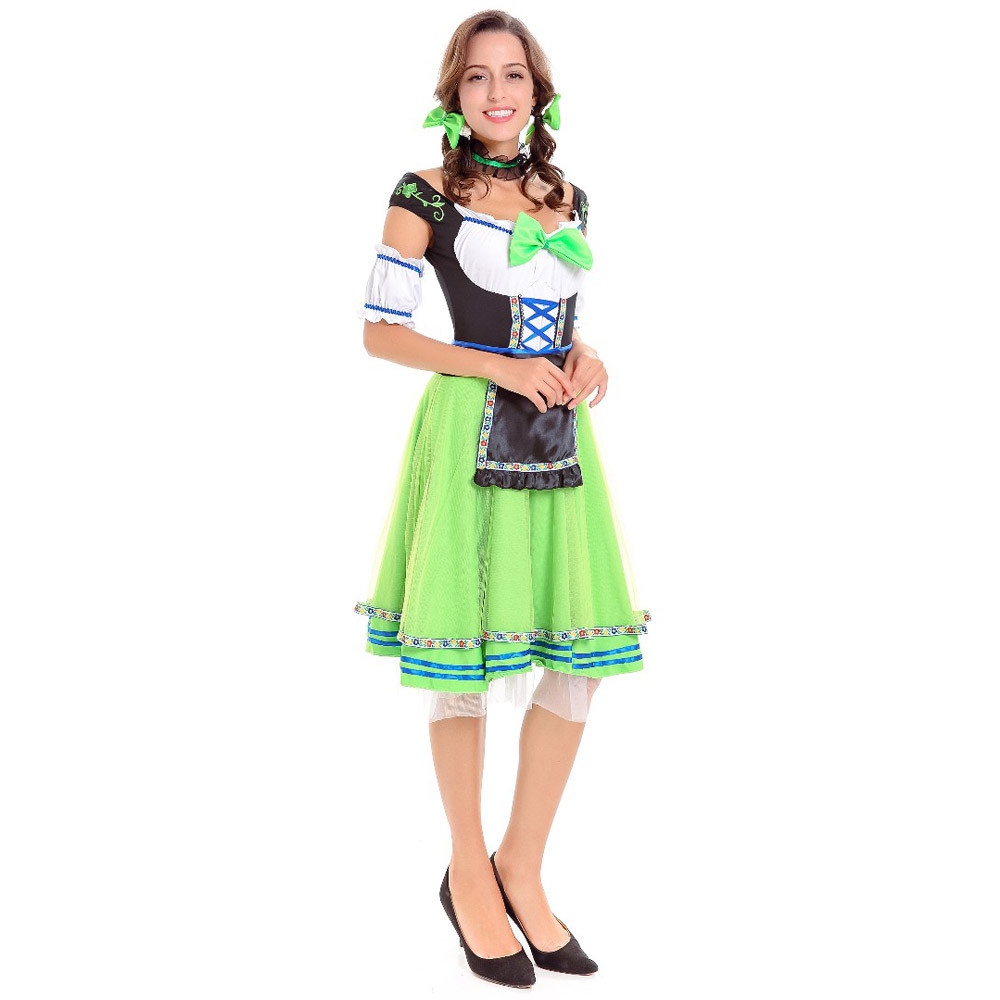 eca35d020071 Sexy Women Oktoberfest Costume German Maiden Dirndl Costume Carnival  Festival October Beer Girl Wench Fancy Dress -in Holidays Costumes from  Novelty ...