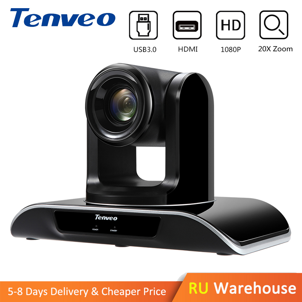 Tenveo VHD203U 1080p60fps HD 20X Zoom PTZ Cámara HDMI Video conferencia USB3.0 salida HDMI de vigilancia para YouTube Facebook