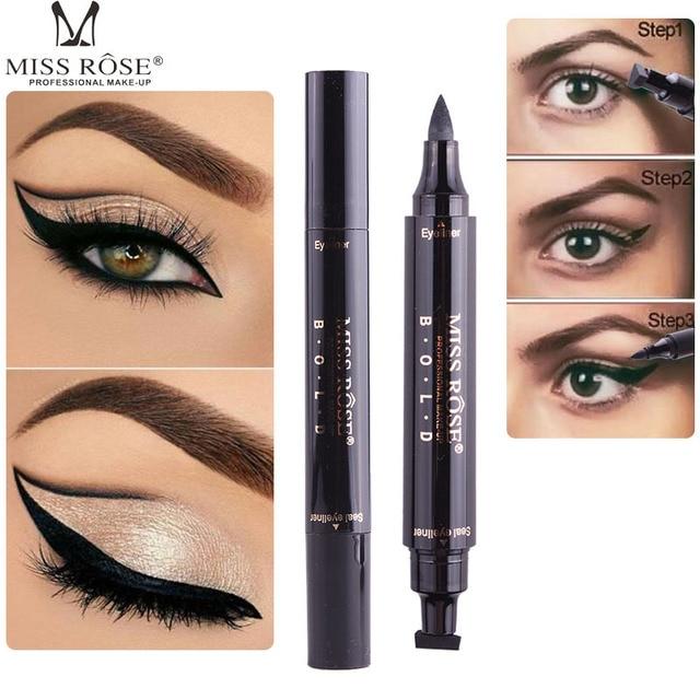 Miss Rose Black Eye Makeup Liquid Eyeliner Easy To Wear Black Big