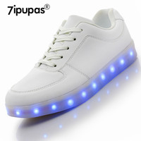 2017 Shining 7 Colors Luminous Sport LED Shoes Men With Lighted For Adults Light Up Shoes