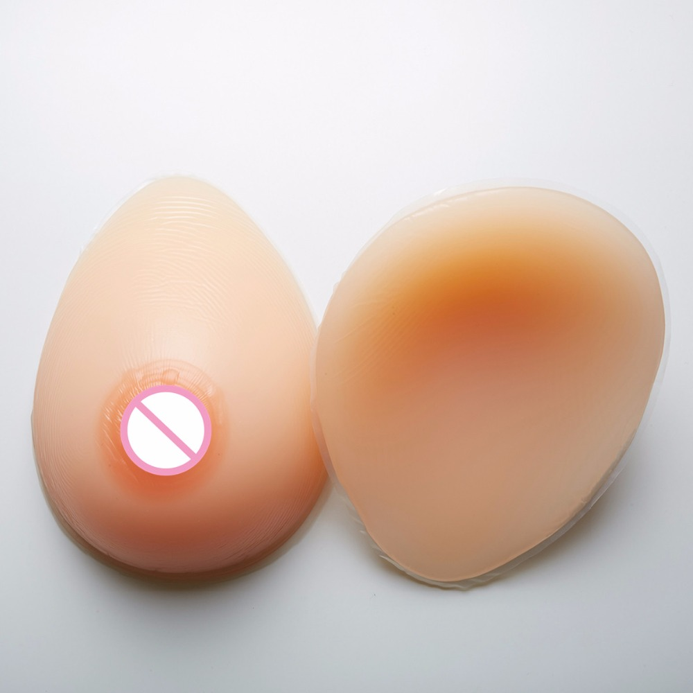 600g/pair MINI Cup Realistic Fake Boobs Silicone Breast Forms Teardrop Crossdresser Drag Queen Shemale Bust Enhancer