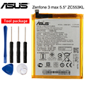 Оригинальный аккумулятор ASUS высокой емкости C11P1609 для ASUS Zenfone 3 max 5 5