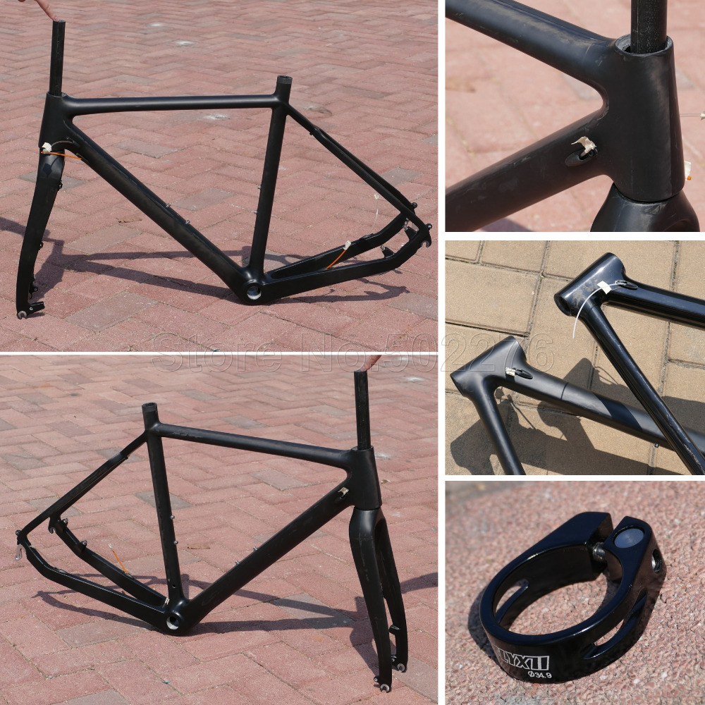 Carbon Glossy Matt Cyclocross Bike Frame 51cm 53cm 55cm BSA BB30 CX Bicycle Fork Cycling