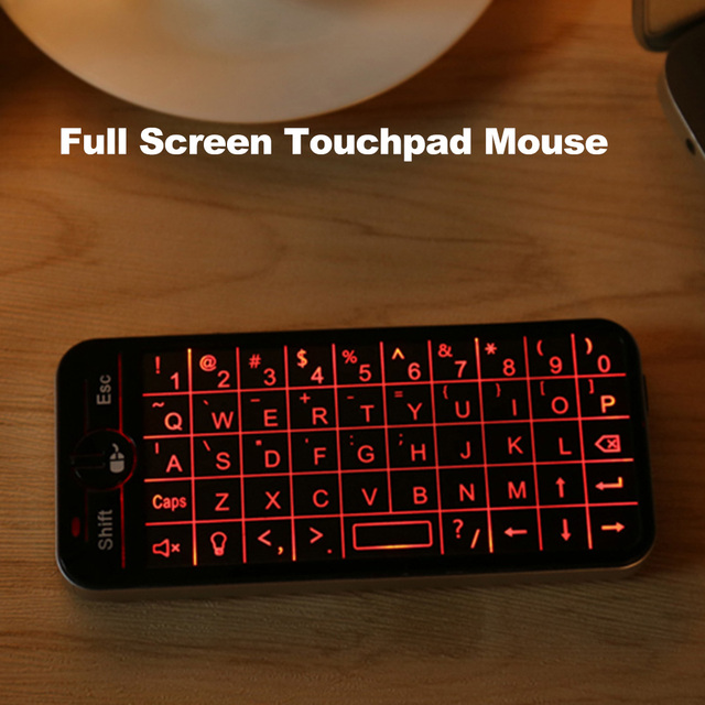 3e97308d3d3 iPazzPort 2.4G Wireless Gaming Keyboard Full Screen Touchpad Mouse Combo  with Backlit portable mini for