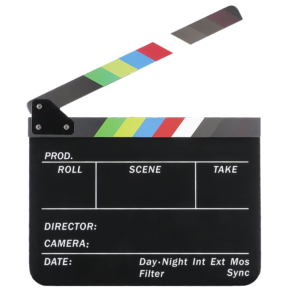 Dry Erase Director s Film Movie Clapboard Cut Action Scene Clapper Board Slate with Colorful Sticks