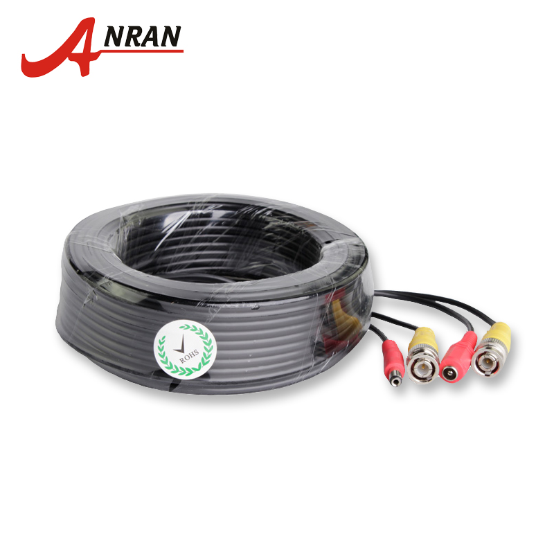 ANRAN BNC Video Power Siamese Cable 60ft 18.3m for Analog AHD CCTV Camera DVR Kit Surveillance Accessories zosi bnc cable 60ft power video plug and play cable for cctv camera system
