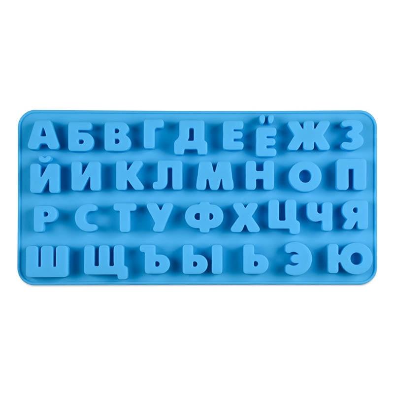 3D Силиконовая форма с русским алфавитом, форма для шоколада, инструменты для украшения тортов, лоток для помадки, желе-печенье, форма для вып...
