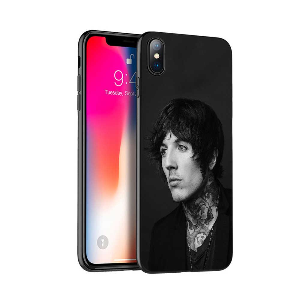 Negro caso del tpu para el caso de iphone 5 5s se 6 6s 7 8 plus x 10 funda de silicona para iphone XR XS MAX caso a el horizonte bmth