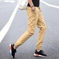 Khaki joggers pantalones hombres de alta calidad de 2017 hombres de la manera legging pantalones pies pantalones harem calle activo