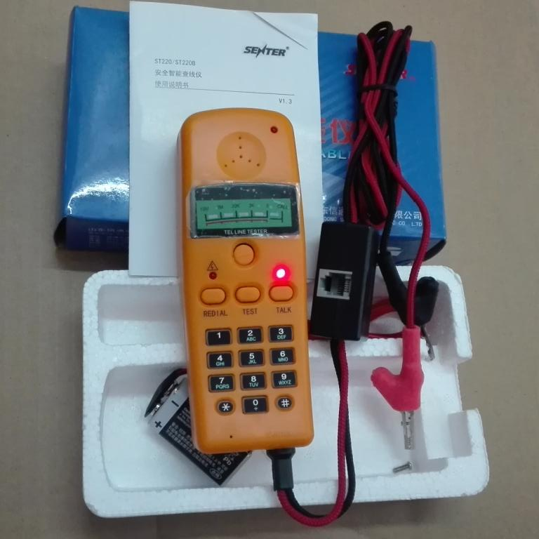 Brand New ST220B Mini Tel Telephone Line Tester Network Cable Tester Meter