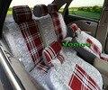 Veeleo + 6 Cores Universal Car-Cobre Tampa de Assento Do Carro Para Chery Tiggo T11 3D Tecido De Linho Car Styling