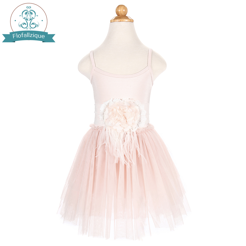 Baby to Big girls Flower Girl Tulle tutu Dress for Wedding Party Princess Dresses With Flower Waist Sash Costume Toddler clothes 2017 fashion summer hot sales kid girls princess dress toddler baby party tutu lace bow flower dresses fashion vestido