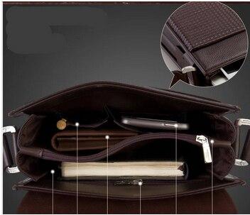 genuíno bolsa do homensageiro da Exterior : Abra o Bolso