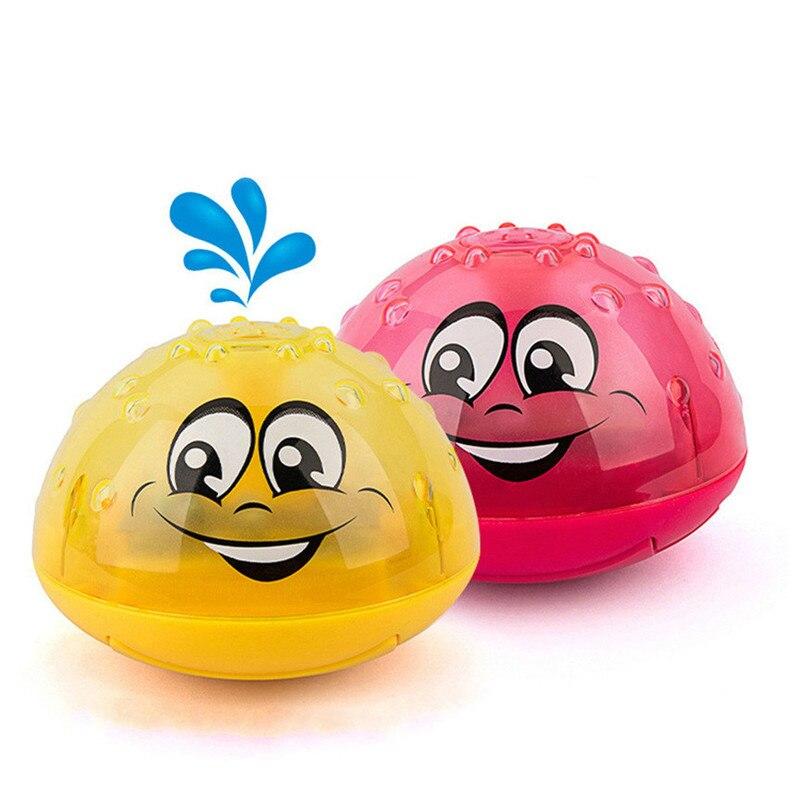 Nouveaux jouets de bain de bébé de salle de bains boule d'eau Inductive électrique de jet avec la baignoire légère nageant des jouets pour l'enfant en bas âge infantile d'enfants