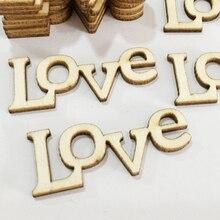 Подарок DIY Поделки маленькие 50 шт. любовные буквы DIY деревянные буквы аксессуары с орнаментом украшения вечерние для дома Скрапбукинг слово ручной работы