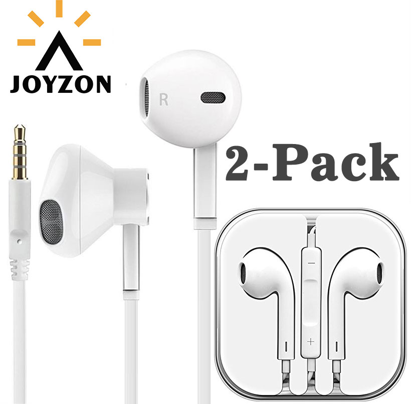 JOYZON Original 3.5mm Wired Earphone For Phone Stereo Sound Headset In-Ear Earphone With Mic White For iPhone Xiaomi Samsung kalaideng ke400 in ear earphone for iphone samsung more golden silver grey 3 5mm 131cm