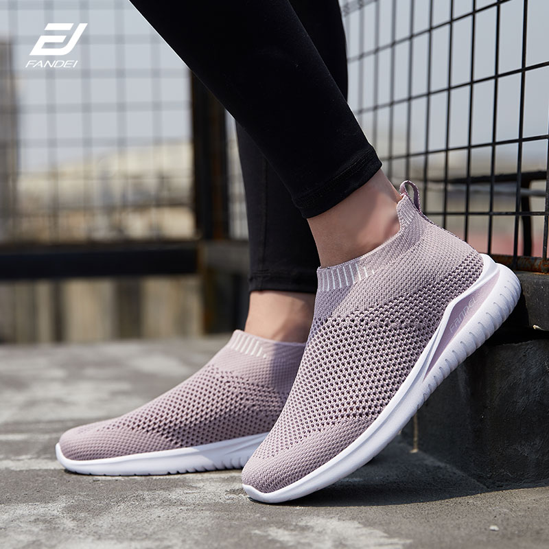 FANDEI Running Shoes Women Medium Top Sock Sneakers Women Walking Shoes Woman Breathable Flyknites Chaussures Femme ZapatillasFANDEI Running Shoes Women Medium Top Sock Sneakers Women Walking Shoes Woman Breathable Flyknites Chaussures Femme Zapatillas