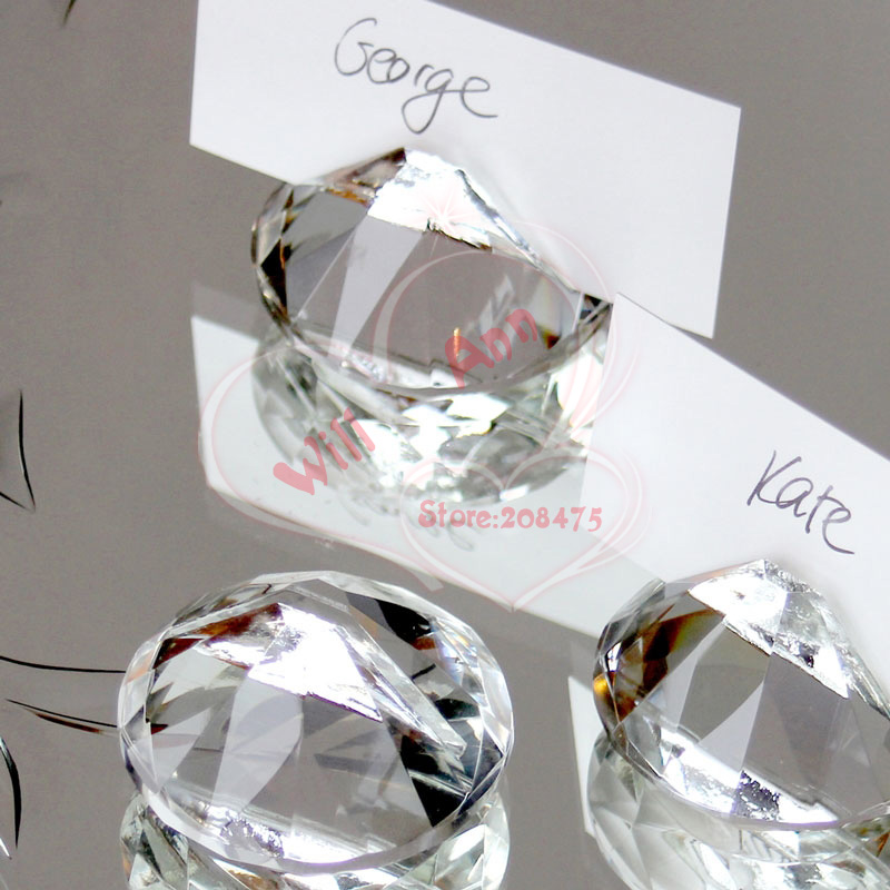 buy 2inch diamond crystal place card holder wedding favors wedding place card holder 12pcslot from reliable holder jewelry suppliers on